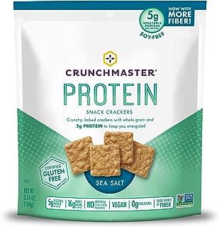 Crunchmaster Protein Snack Crackers, Sea Salt