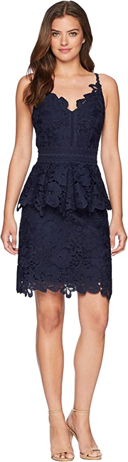 Nadiie Lace Detail Peplum Dress