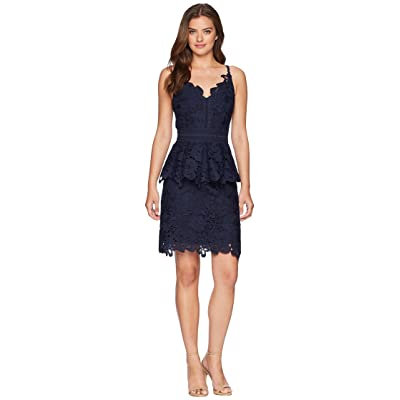 Ted Baker Nadiie Lace Detail Peplum Dress (Navy) Women