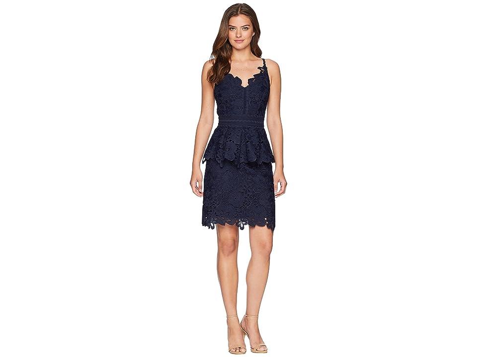 Ted Baker Nadiie Lace Detail Peplum Dress (Navy) Women
