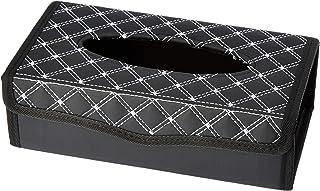Amazon Brand - Solimo Tissue Box - Black with Silver