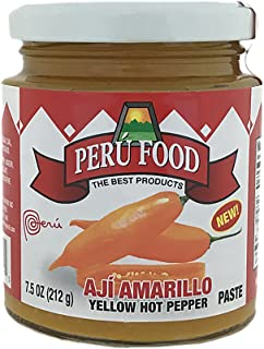 Peru Food Aji Amarillo Paste - Hot Yellow Pepper Paste - 7.5 ounces Jar - 3 Pack