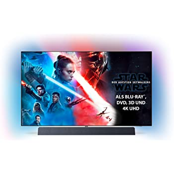 Philips Ambilight 55OLED934/12 139 cm (55 Zoll) OLED+ Smart TV (4K UHD, P5 Pro Perfect Picture Engine, HDR 10+, Dolby Vision, Dolby Atmos, Sound von Bowers & Wilkins, Android TV) [Modelljahr 2019]