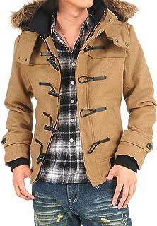 (トップイズム) TopIsm ダッフルコート メンズ コート ジャケット メルトンウール スタンドリブ ショートアウター