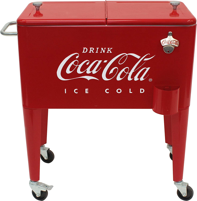 Leigh Country CP 98108 Retro Coca-Cola Cooler Detroit Mall Metal Quart 5 ☆ very popular 60
