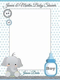 Elephant Baby Shower Decorations, Elephant Photo Booth Prop - Sizes 36x24, 48x36; Personalized Little Elephant Photobooth Frame, animal, baby boy Handmade party Supply Elephant selfie frame
