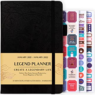 $24 » Legend Planner Jan 2021 – Jan 2022 Dated Weekly & Monthly Planner to Hit Your Goals, Increase Productivity & Live Happier....