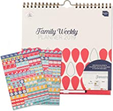 2019 Wall Calendar Boxclever Press Family Weekly Planner. Week-to-view 6 Columns for Busy Moms. Family Organizer with Tear-out Grocery Lists, Stickers, Paperwork Pocket, Clip-on Pen. Use until Dec '19
