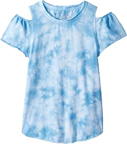 Chaser Kids - Vintage Jersey Cold Shoulder Flutter Top (Little Kids/Big Kids)