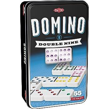 Engelhart 250102 Grand Jeu De Dominos DOUBLE NEUF Dans Une Boite En M/étal