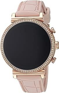 Michael Kors Women's Quartz Wrist Watch smart Display and Silicone Strap, MKT5068