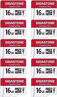 Gigastone Micro SD Card 16GB マイクロSDカード フルHD 10Pack 10個セット 2 SDアダプタ付 2 ミニ収納ケース付 w/adapter and case SDHC U1 C10 85MB/S 高速 mi...