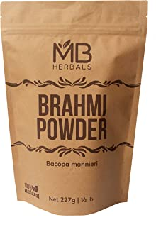 Mb Herbals Pure Brahmi (Bacopa Monnieri Leaf) Powder - 227G / 1/2 Lb / 8 Oz / 0.5 Lb