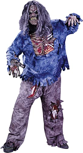 Complete Zombie Adult HalFaibleeen Fancy Robe Horror Pour des hommes Costume Plus Taille