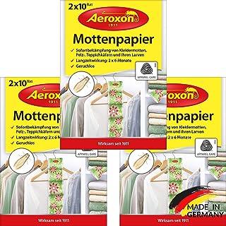 AEROXON Trampa para polillas de la ropa en el armario piezas 3x20