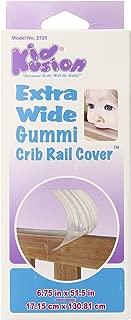 Kidkusion Extra Wide Gummi Crib Rail Cover, Clear