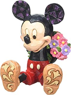 """Disney Traditions by Jim Shore Mini Mickey Mouse Personality Pose Stone Resin Figurine, 2.75"""""""