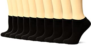 Gildan Women's Half Cushion No Show Socks, 10 Pairs