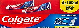 Colgate Colgate Maximum Cavity Protection Great Regular Flavour Toothpaste - 150mL - 2 pack '