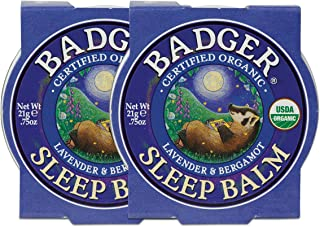 Badger - Sleep Balm, Lavender & Bergamot, Natural Sleep Balm, Scented Relaxing Balm for Children and Adults, Calming Night...