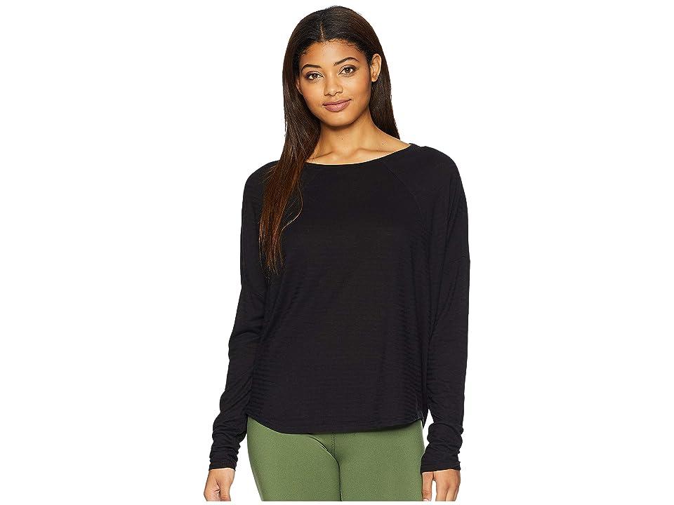 Prana Seaboard Long Sleeve Top (Black) Women