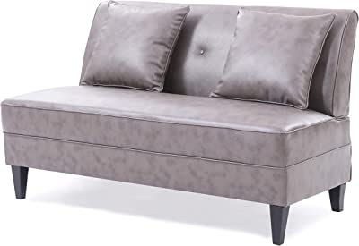 Amazon.com: Pangea Home Chester Sofa, White: Kitchen & Dining