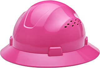 Noa Store HDPE Pink Full Brim Hard Hat with Fas-trac Suspension