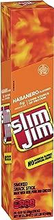 Slim Jim Giant Smoked Meat Sticks, Habanero Flavor, Keto Friendly, 0.97 oz. 24-Count