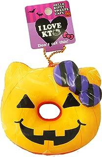 Hello Kitty Halloween Jack O'Lantern Donut Squishy Yellow Icing
