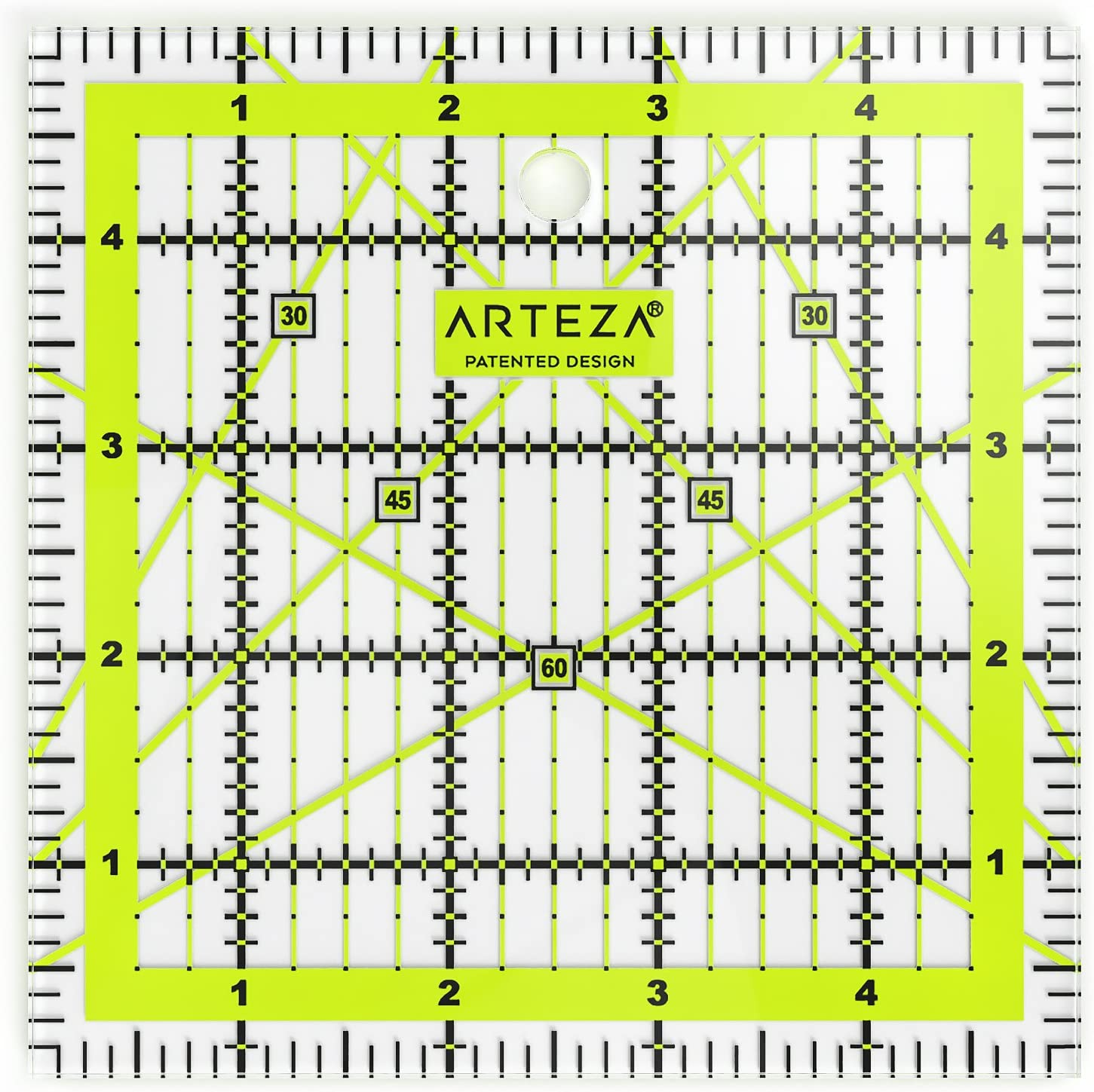 ARTEZA Quilting Spring new work one after another Ruler Laser Cut Acrylic with Pa Regular discount Quilters'