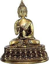 eSplanade Best Quality Brass Buddha - Meditating Buddha - Showpiece   Home Decor   Brass Metal idol Statue Figurine Murti
