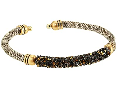 Alex and Ani Gold Mine Fine Rocks Mesh Cuff Bracelet (Rafaelian Gold) Bracelet