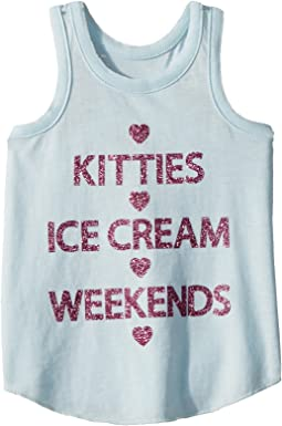Extra Soft Kitties & Weekends Tank Top (Toddler/Little Kids)
