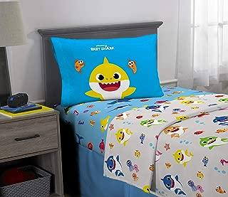 Franco Kids Bedding Super Soft Microfiber Sheet Set, 3 Piece Twin Size, Baby Shark
