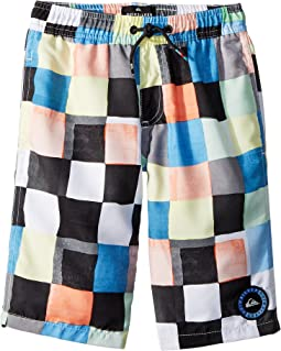 Quiksilver Kids Resin Check Volley Shorts (Big Kids)