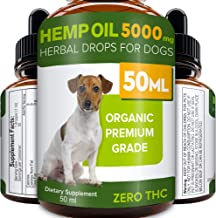 Pawesome Hemp Oil - 50ml - 5000 MG Made in UK Hemp Extract - Pure Premium Grade - Omega-3, 6