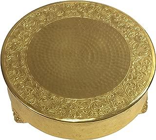 GiftBay Creations Gold Wedding Cake Stand Round 18