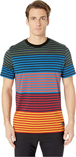Regular Fit T-Shirt Multi Block Stripe
