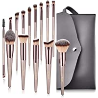 BESTOPE Makeup 14 Pcs Brushes Set With Tapered Handle & Case Bag