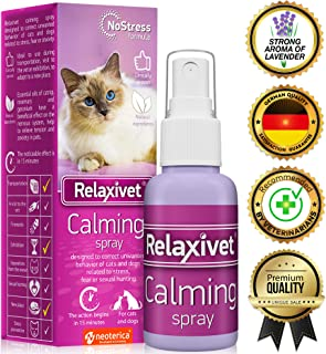 Relaxivet Natural Calming Spray for Cats and Dogs with a...