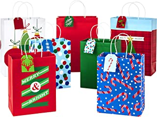 Hallmark Christmas Assorted Gift Bag Bundle with Mix-n-Match Gift Tags, Traditional (Pack of 7 Gift Bags: 3 Large 13