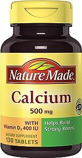 Nature Made Calcium (Carbonate) 500 mg w. Vitamin D3 400 IU Tablets 130 Ct