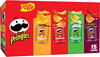 Pringles, Potato Crisps Chips, Variety Pack, Snacks On The Go, Grab N' Go, 20.6oz Box (15 Count)