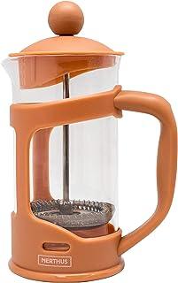 Nerthus FIH 792 French Plunger Coffee Maker, PP/Borosilicate Glass/SS, TEJA, 350 ml