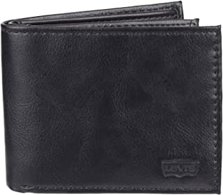 Men's Slim Bifold Wallet - Genuine Leather Casual Thin Slimfold with Extra Capacity and ID Window, Clarcoal Black, One sizee