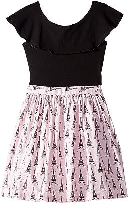 Ruffle Collar Eiffel Tower Dress (Little Kids/Big Kids)