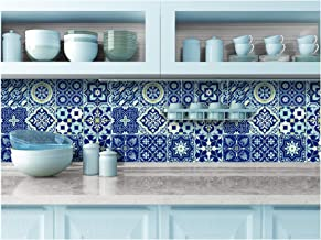 blue tile stickers