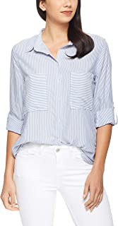 French Connection Women's Stripe Button Through Relaxed Shirt