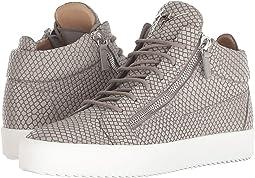 8e07cec89ed2 Grey. 15. Giuseppe Zanotti. May London Croc Print Mid Top Sneaker