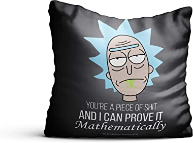 MCSID RAZZ Rick & Morty -You are Piece of Shit Design Decorative Cushion Covers/Throw Pillow/Pillowcase] (16 x 16 inch) W